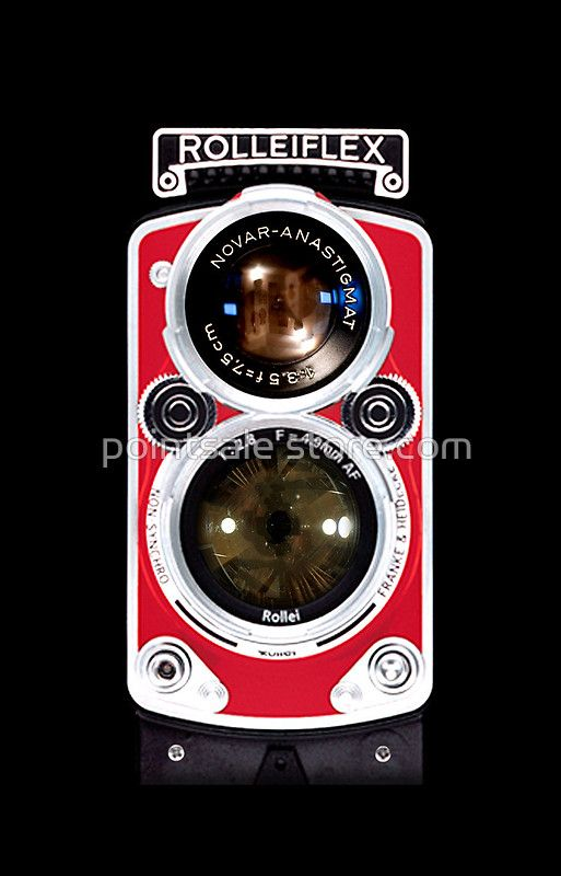 Red Rolleiflex Dual lens Vintage camera iphone 5, iphone 4