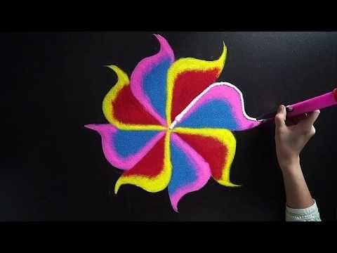 Easy Rangoli Design For Diwali || Simple Rangoli Design || Beautiful Diwali Rangoli Design || Diwali