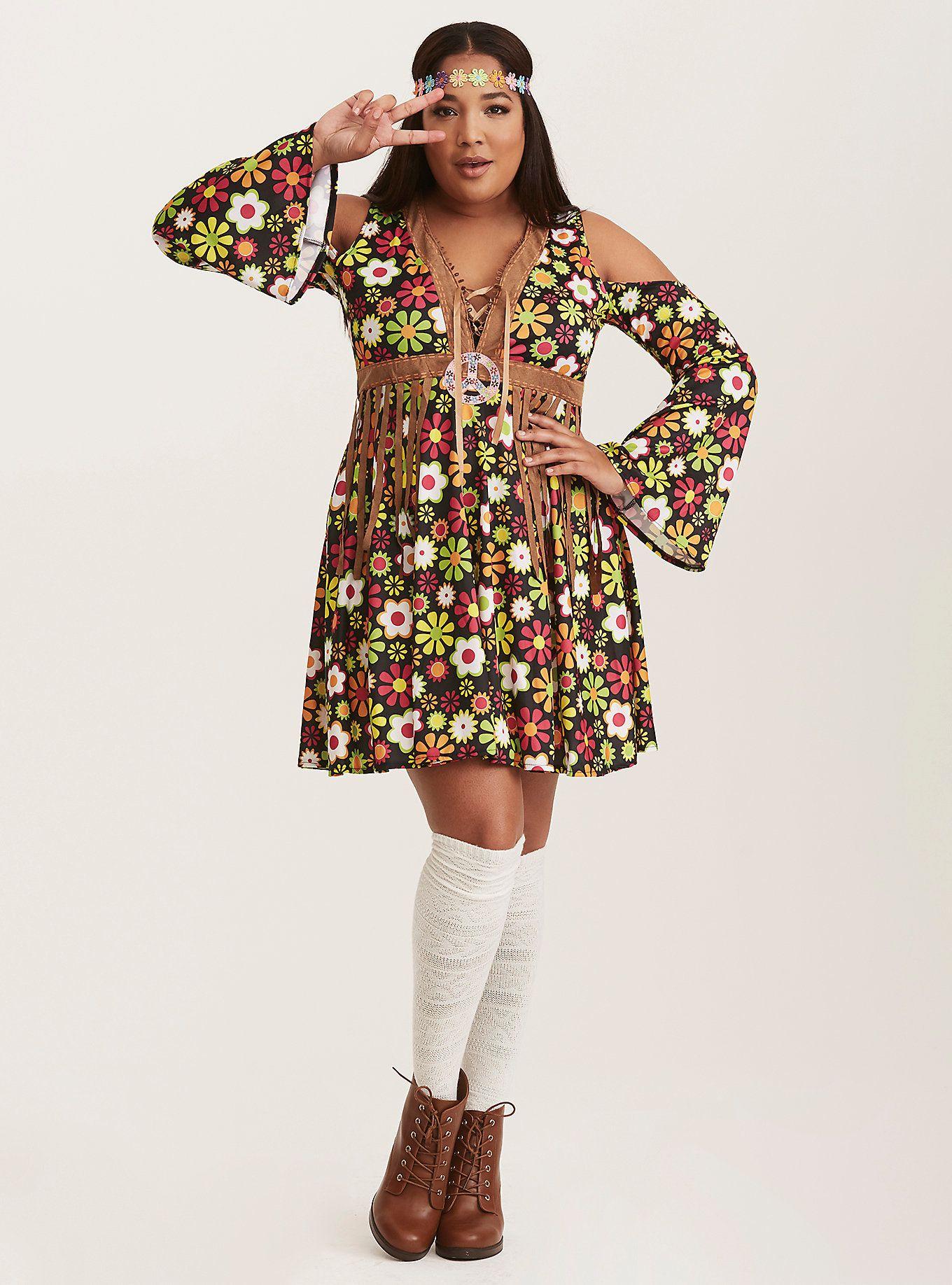 leg avenue halloween flower hippie costume | torrid (plus size