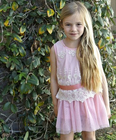 Another great find on #zulily! Pink Lace Cameryn Dress - Toddler & Girls #zulilyfinds