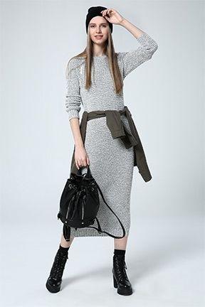 Tozlu Com Yeni Sezon Urunler Toptan Fiyatina Triko Elbise Moda