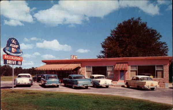 ocala fl the four b s restaurant and drive inn opposite ocala drive