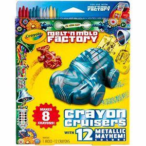 Crayola Melt 'n Mold Factory Crayon Cruisers, Metallic Mayhem