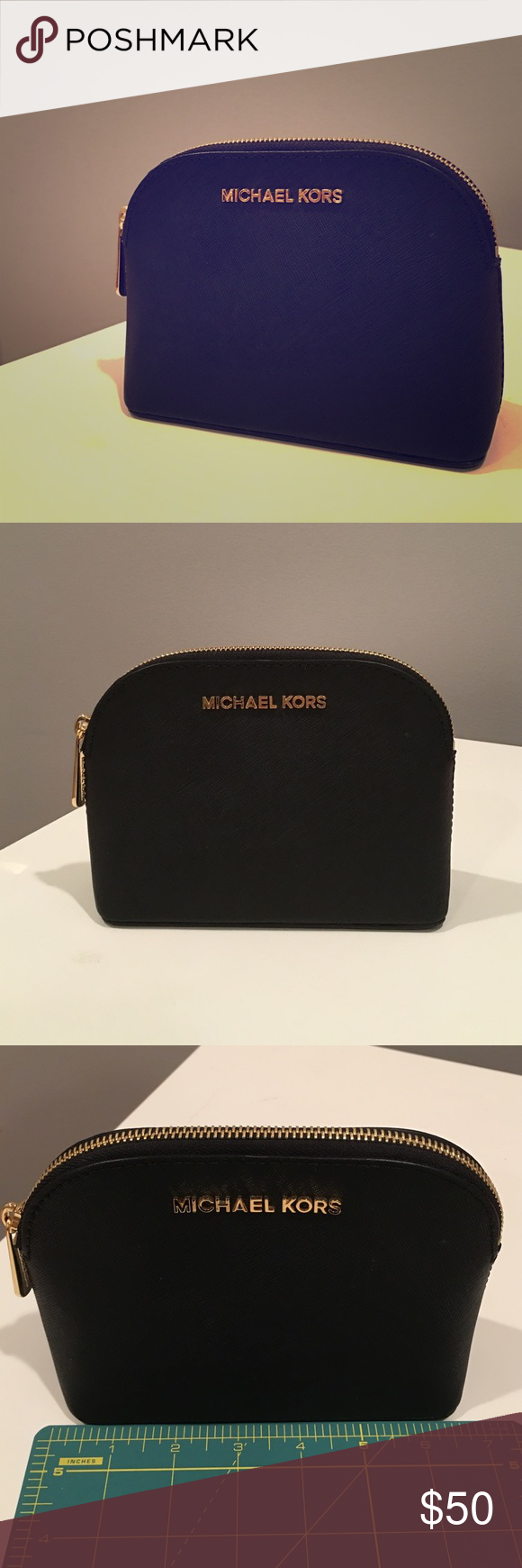 fc0a04f00a82 ... new style michael kors cindy saffiano leather travel pouch 61970 3e408  best nwt michael kors cindy cosmetic ...