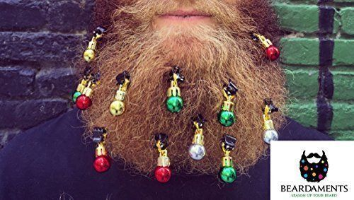 You might be manly enough to grow a beard, but are you man enough to decorate it with shiny balls?  Click for 10 of the funniest gag gifts that will have you winning at your white elephant this year |funny gifts| |Beardments| |Balls for beards| |holiday humor|