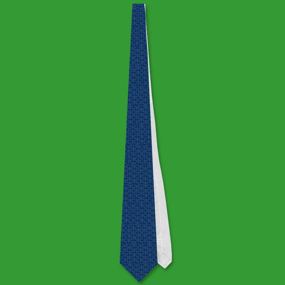 Stylish Necktie, Dark Blue, Gold-effect Pattern | Zazzle.co.uk