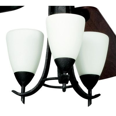 Alcott Hill Smithshire 3 Light Branched Ceiling Fan Light Kit Finish: Distressed Black
