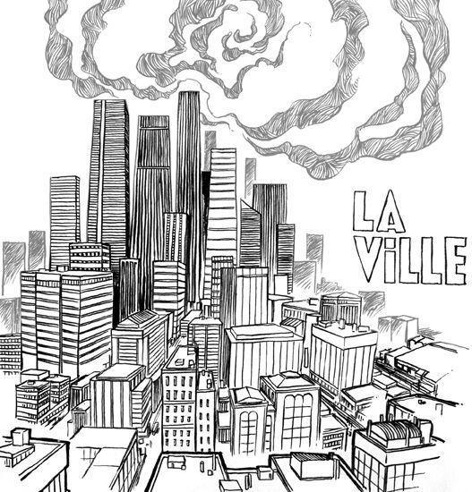 La ville dessin illustrations pinterest ville - Coloriage ville ...
