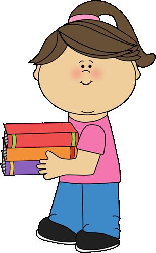 girl holding books clip art girl holding books image card making rh pinterest com