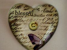 C.R. Gibson Glass Heart Shaped Paper Weight, Blessed, Everyday Blessings