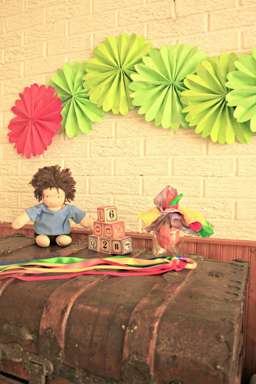very hungry caterpillar ... 6 pomwheels .... party decor ...