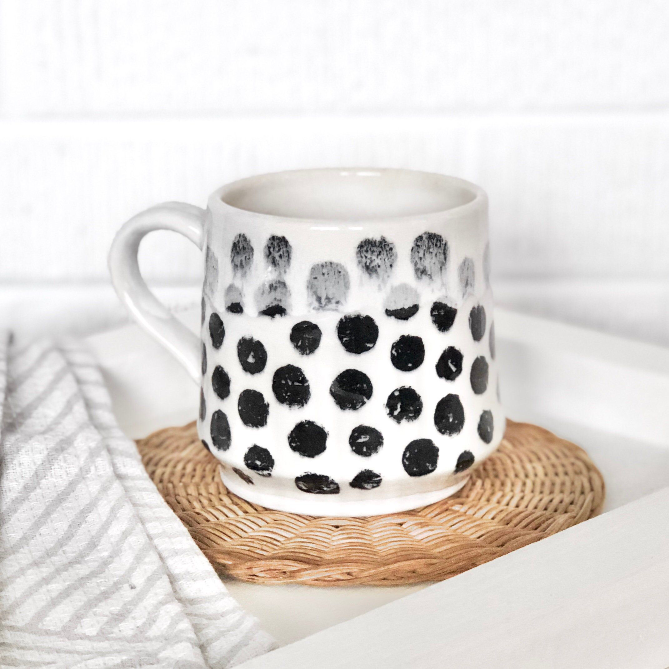 Excited to share the latest addition to my shop: Polka Dot Mug.  .  #andersonfarmspottery #ceramic  #pottery #ceramics #functionalpottery #functionalceramics #handmadewares #potterofinstagram #contemporaryceramics #instapottery #clayart #craftmovement #handmadeceramics #makersgonnamake