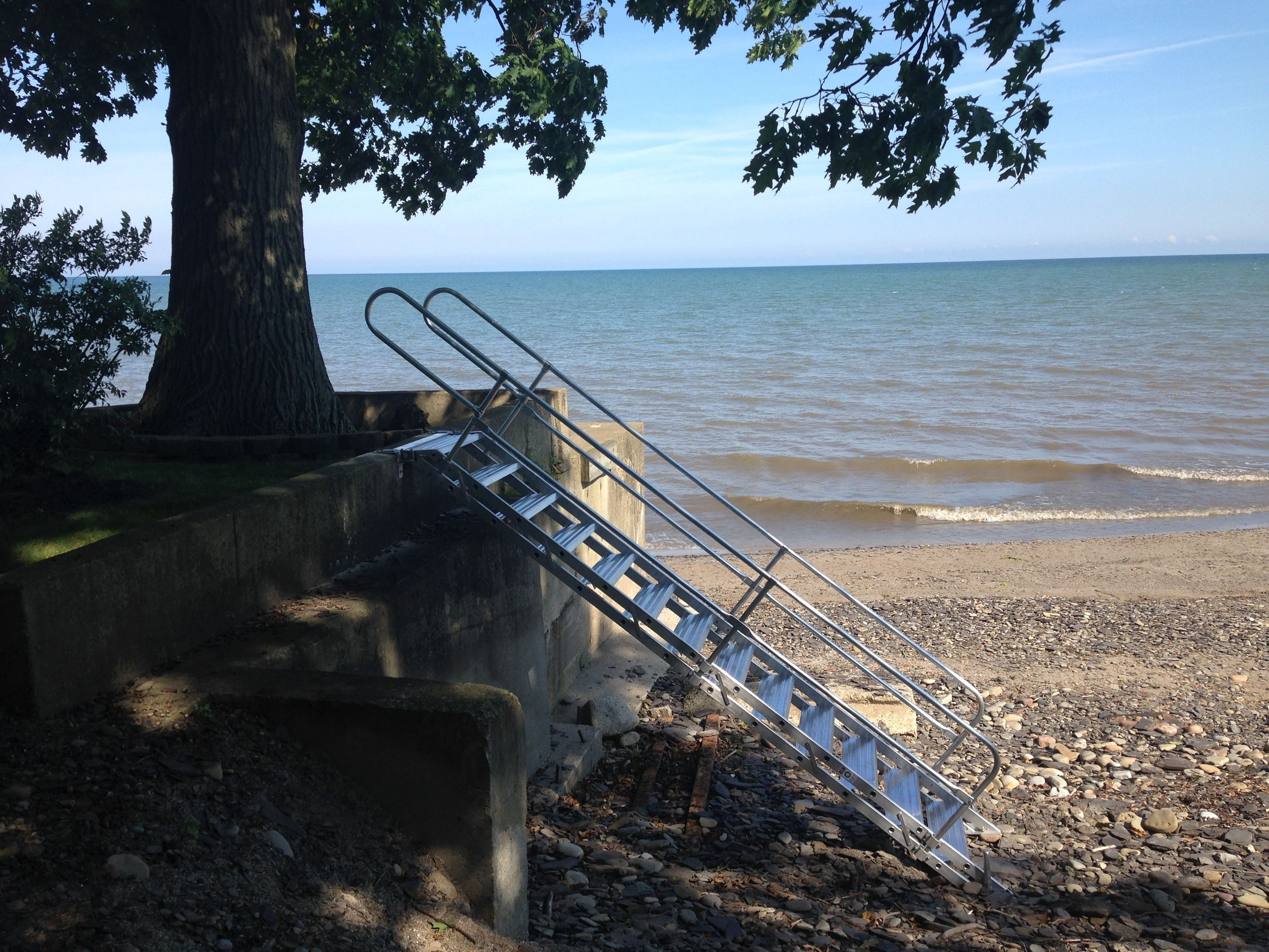 Superior Lake Erie Stairway Beach Access #lakeerie #stairway #beachaccess #beachlife