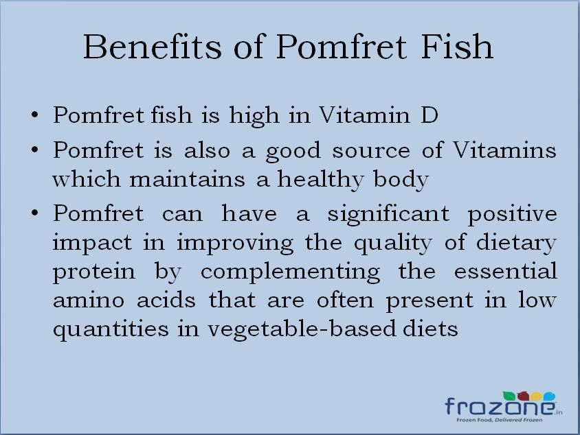 Pomfret fish nutrition facts nutrition ftempo for Health benefits of fish