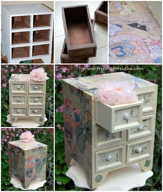 Decoupage jewellery box See how to make it on my blog Dream home