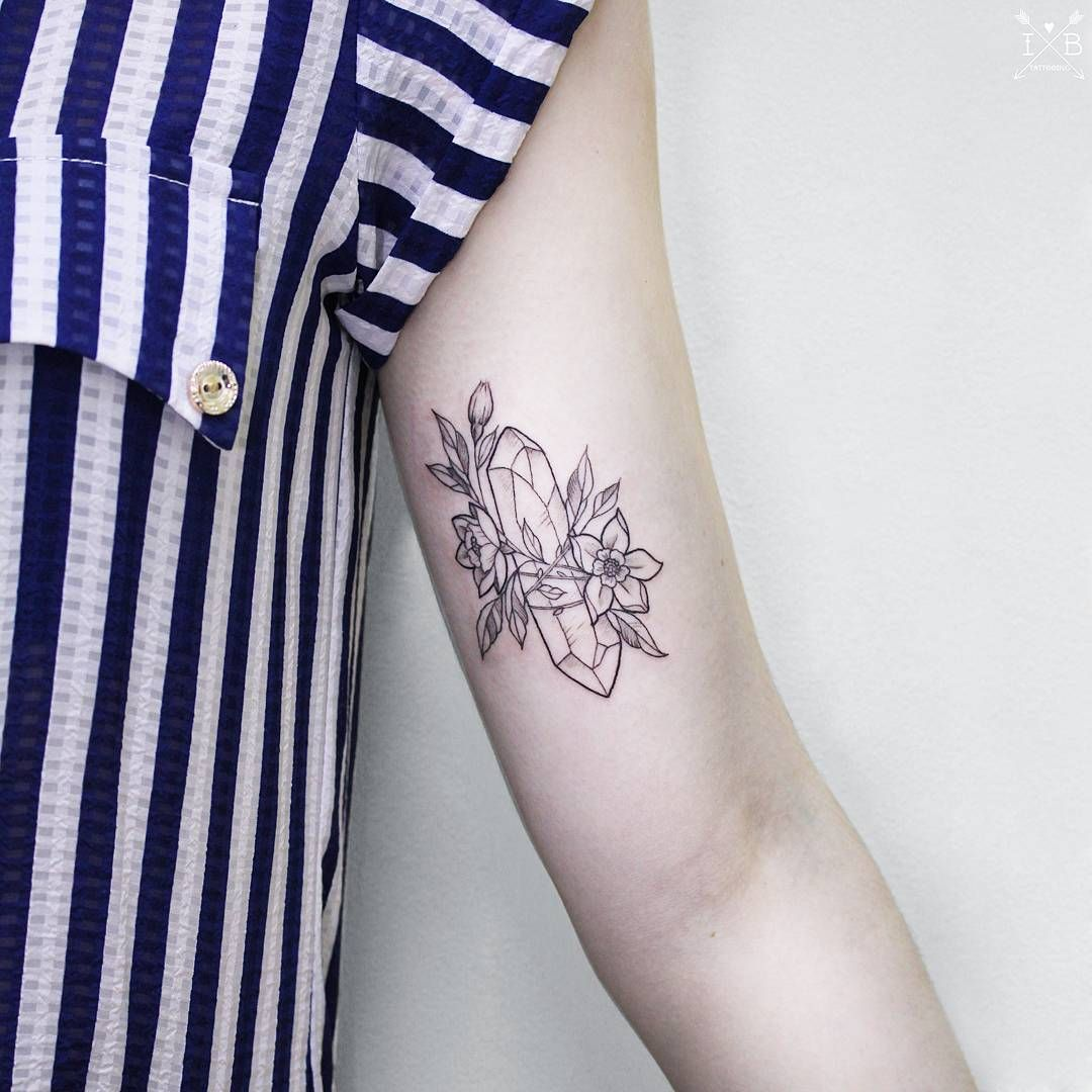 Gem Crystal Tattoo By Irene Bogachuk @irenebogachuk