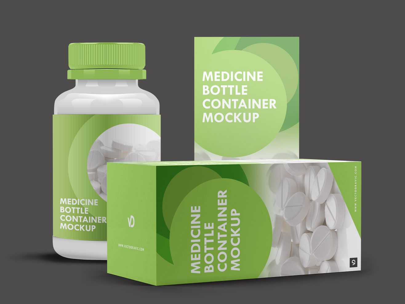 Medicine Bottle Container And Box Mockup Apemockups Bottle