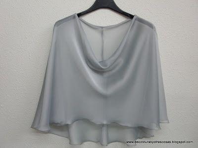 capelina o capa diseño-corte-confección-capa-gasa | hacer ropa en