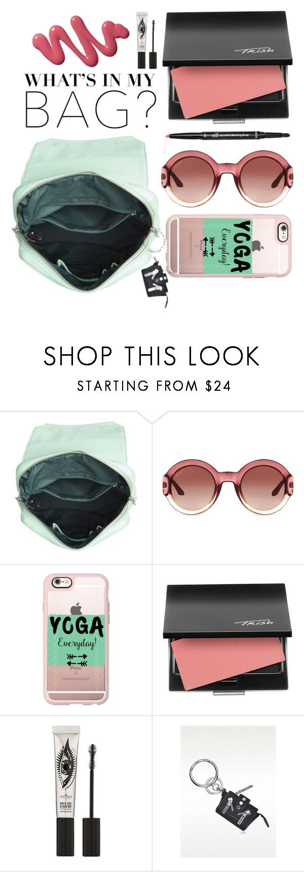 """""""What's in my bag?"""" by cherieaustin ❤ liked on Polyvore featuring Matt & Nat, Gucci, Casetify, Trish McEvoy and Eyeko"""
