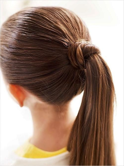 Ponytail Hairstyles Simple Ponytail Ideas  Ponytail Hairstyles  Pinterest  Simple