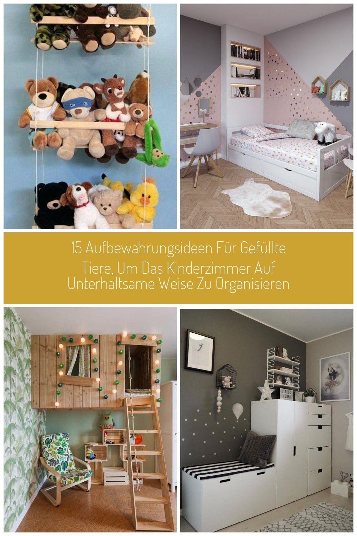 15 Aufbewahrungsideen für gefüllte Tiere, um das Kinderzimmer auf unterhaltsame Weise zu ...