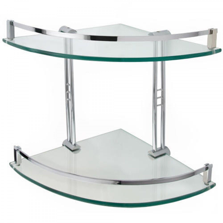 Engel Tempered Glass Corner Shelf - Two Shelves | Glass corner ...