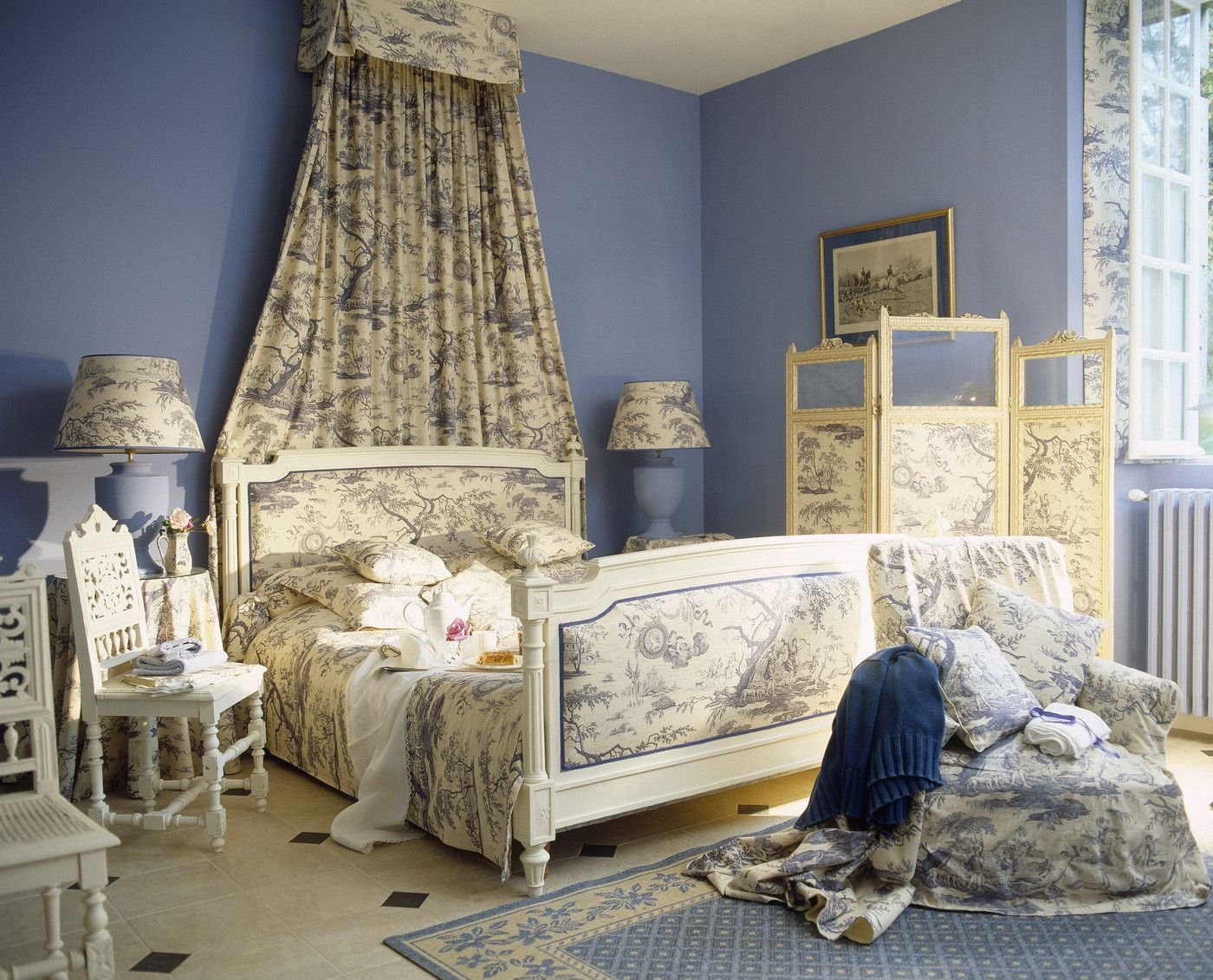 Stanze Da Letto Stile Country : French country bedroom toile de jouy paese camere