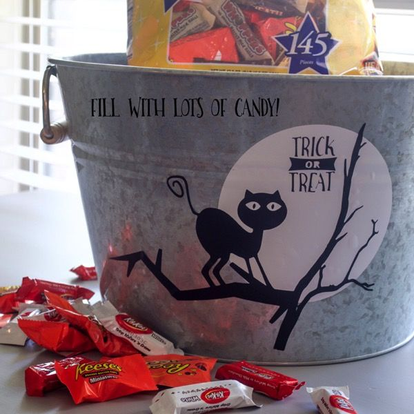 DIY Halloween Candy Bucket with FREE SVG File
