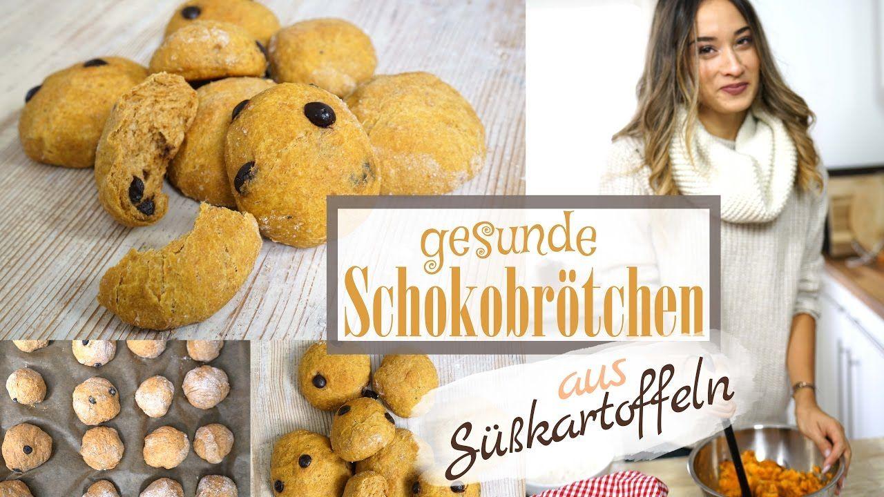 Schokobrötchen selber machen - Gesund & Vegan - aus Süßkartoffel - Perfe...