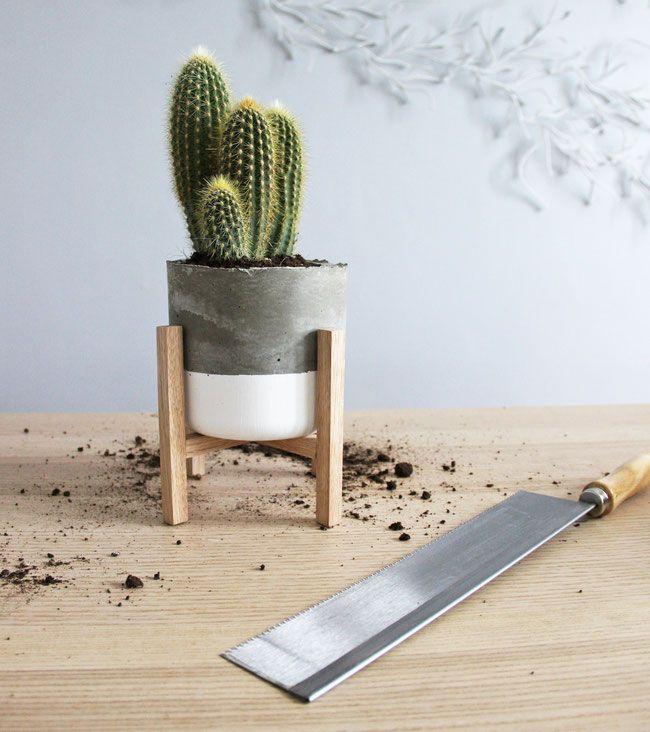 Http Laloutrescandinave Jimdo Com Diy Pot De Fleurs En Bois Pots De Fleurs En Ciment Pots En Beton