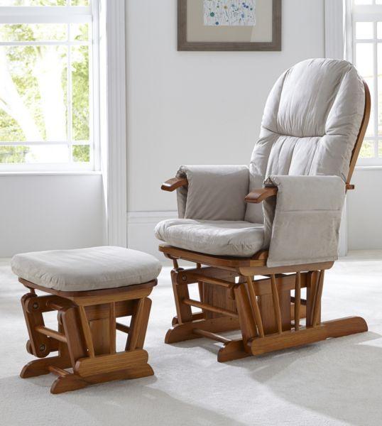 Amazing Tutti Bambini Deluxe Reclinable Glider Chair And Stool Creativecarmelina Interior Chair Design Creativecarmelinacom