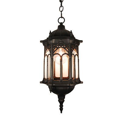 Black Finished Outdoor Hanging Lighting Light Fixture Ot0007m H Outdoor Lantern Lighting Outdoor Hanging Lights Outdoor Ceiling Lights