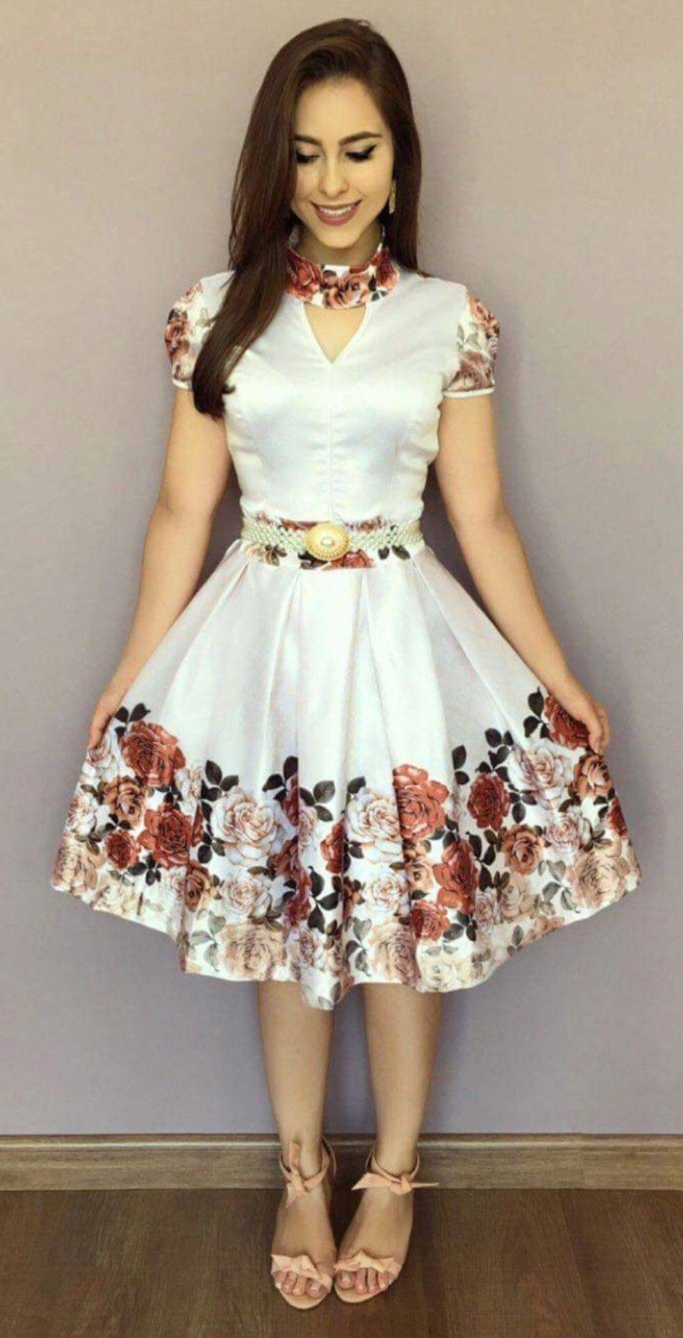 Vestido De Flores En 2019 Vestidos De Moda Vestidos