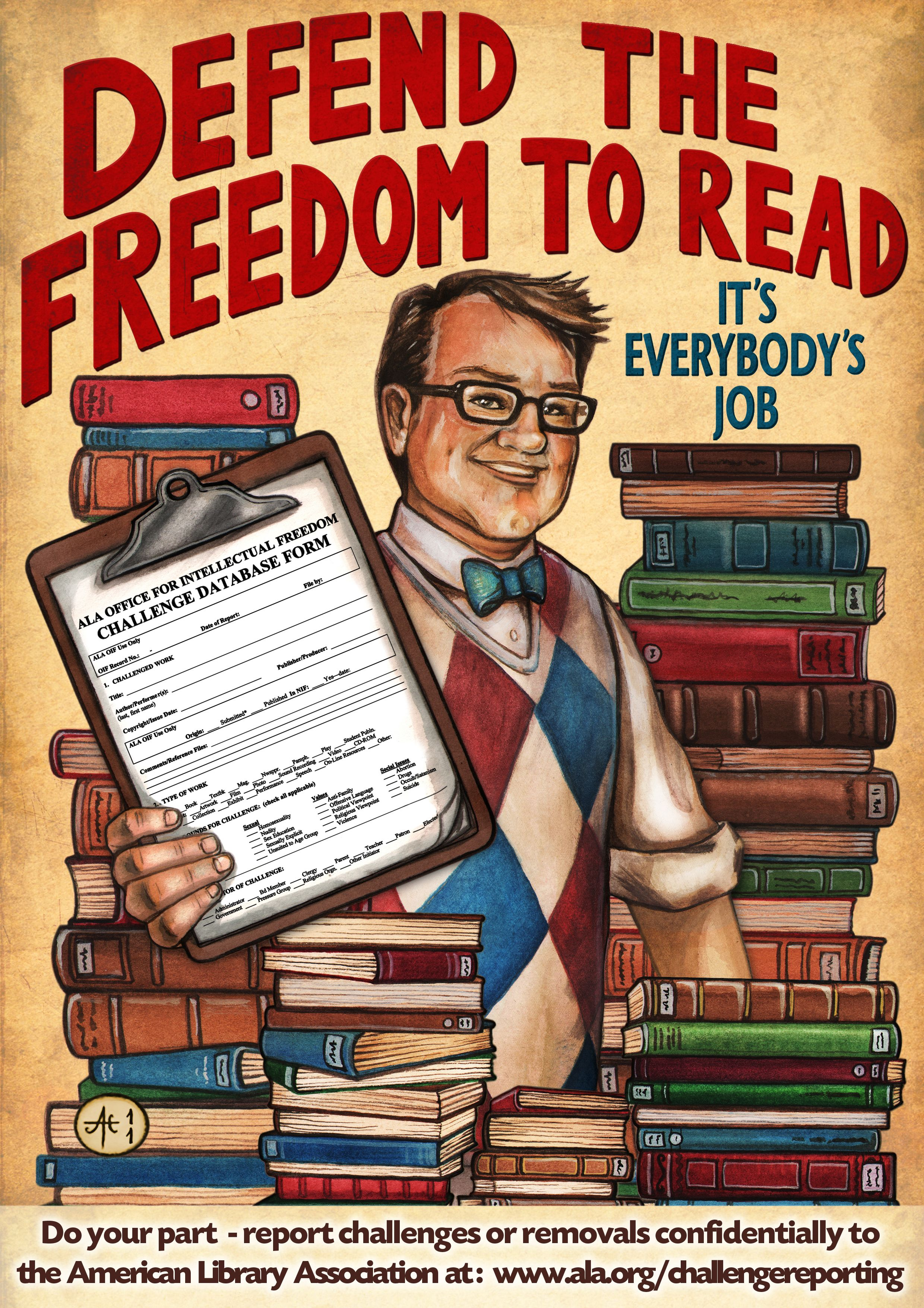 An interesting adaptation of Banned Books Week from ALA's OIF.