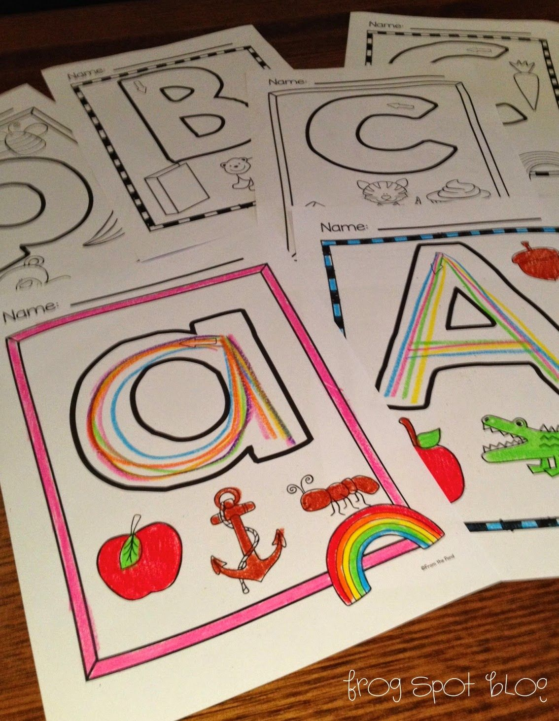 Free Aa pages Rainbow Writing the