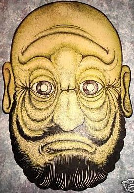 1950 Topsy Turvy Mask of Two Faces