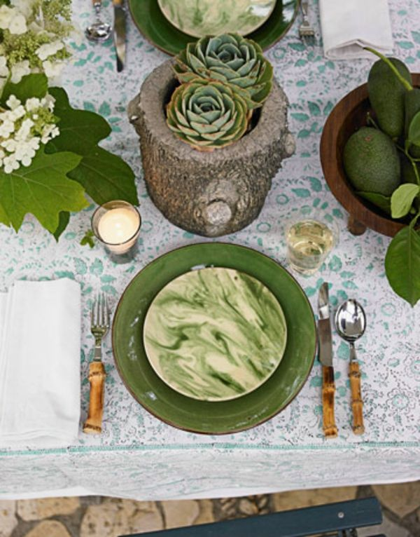 Baumstumf Vase Dekoration Idee Design Selber Machen Gruen