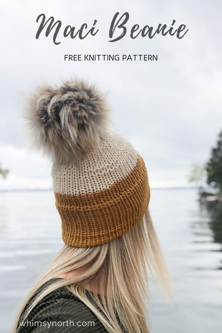 Maci Beanie Free Knitting Pattern Knitting Machine Patterns Knitting Machine Hat Knitting Machine Hat Patterns