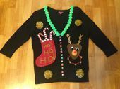 How to Make an Ugly Christmas Sweater - DIY Tips,  #Christmas #ChristmasSweaterd...#christmas #christmassweaterd #diy #sweater #tips #ugly #uglychristmassweatersdiy