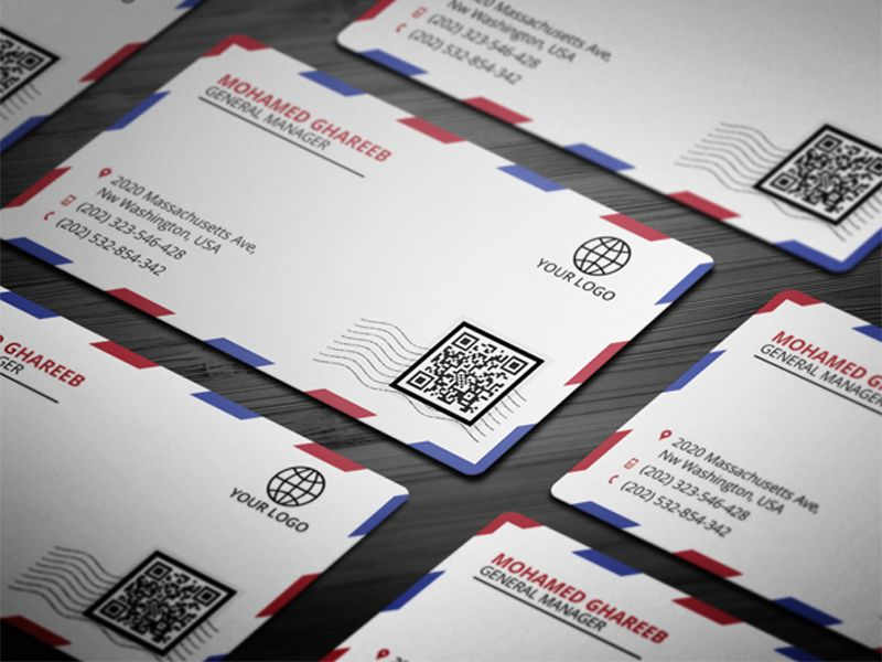 Postal Envelope Business Card | Business cards, Business and Fonts