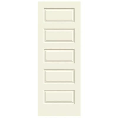 Jeld Wen 28 In X 80 In Molded Smooth 5 Panel French Vanilla Hollow
