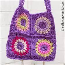 half granny square crochet pattern - Google Search