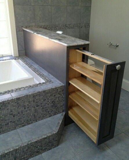 Para tener organizado el baño