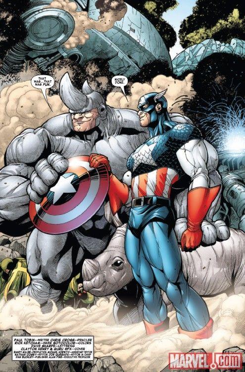 captain america and rhino