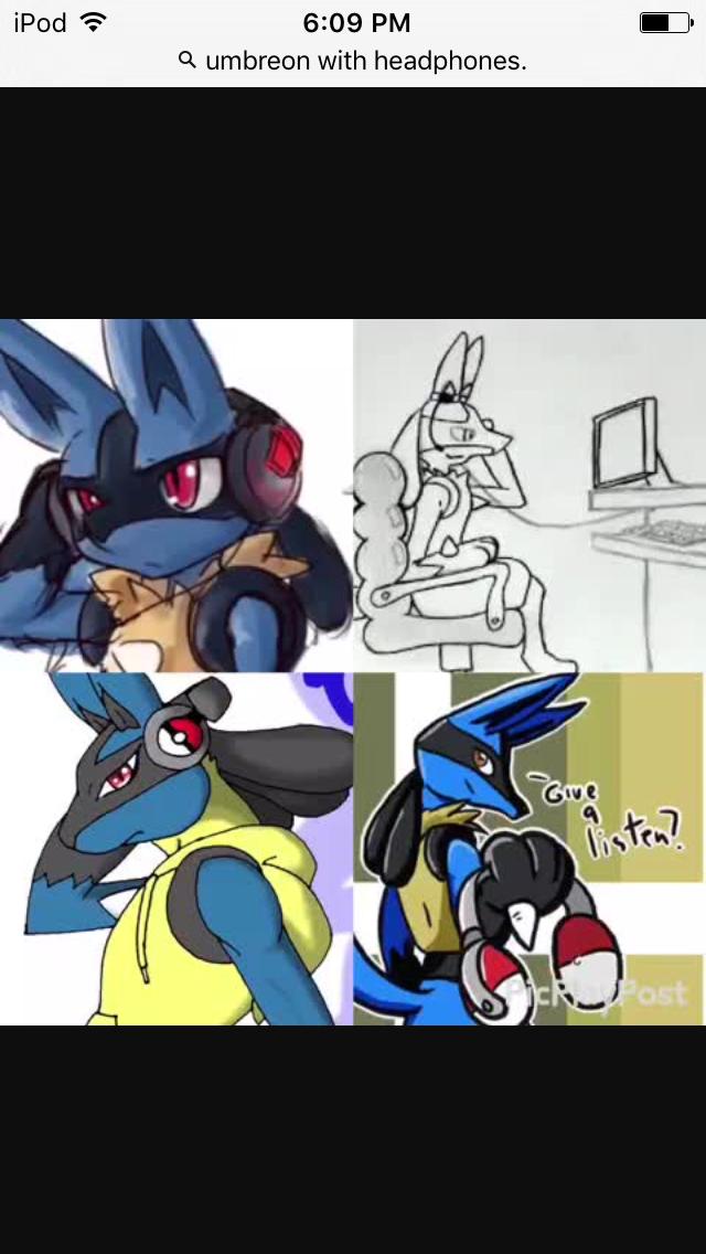 Lucario In Headphones Pokemon Fictional Characters Character