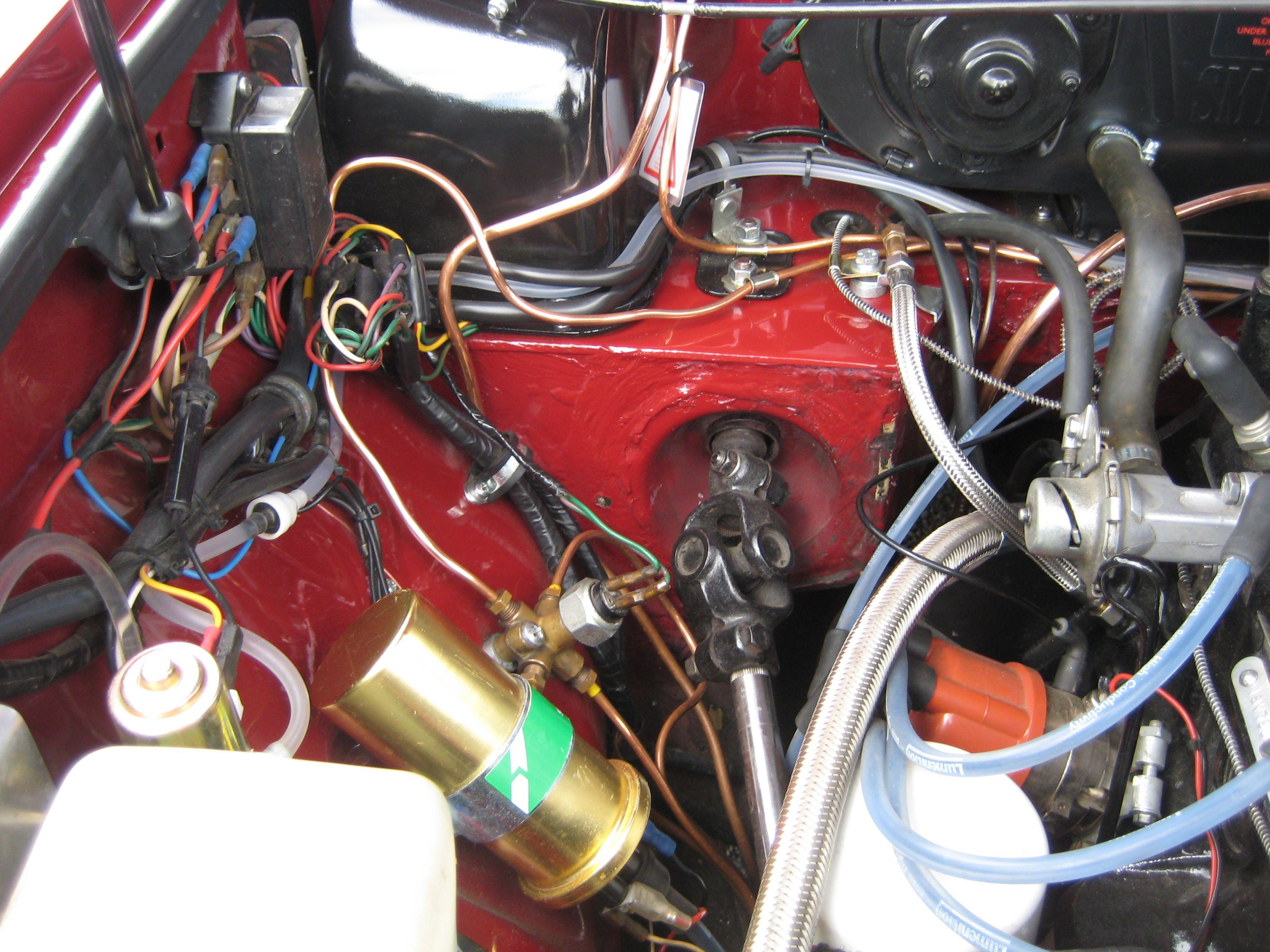 medium resolution of mgb engine bay