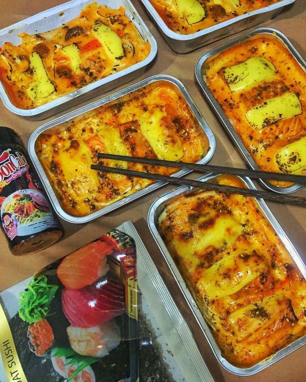 Resep Mentai Rice C 2020 Brilio Net Makanan Penutup Mini Makanan Dan Minuman Makanan