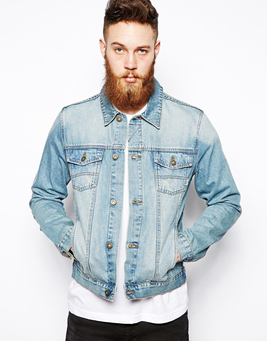 ASOS Denim Jacket in Light Wash | Love it! | Pinterest | Denim ...