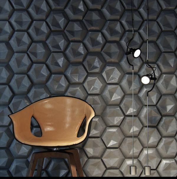 3D Hexagonal Wall Panel Design / #walldesign