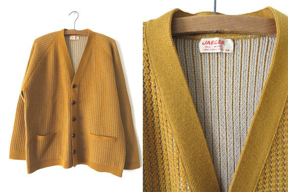 Vintage 60s Jaeger Cardigan Sweater Mustard By Buddybuddyvintage 62 00 Fils Sweater Cardigan Sweaters Cardigan